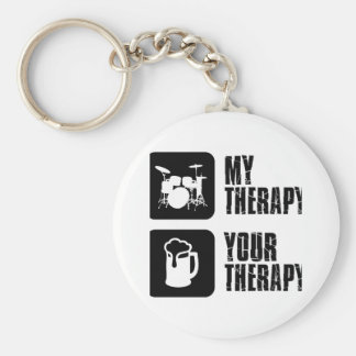 Drums my therapy keychain