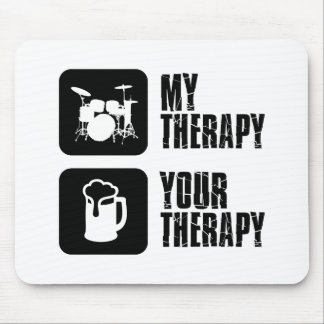 Drums my therapy mouse pad