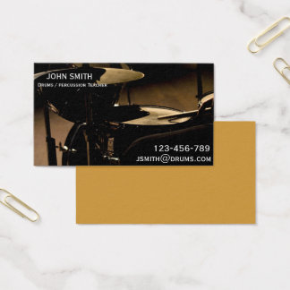 Drums / Percussion Teacher or tutor Business Card