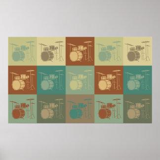 Drums Pop Art Poster