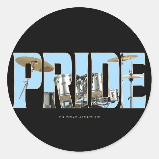 Drums PRIDE Classic Round Sticker