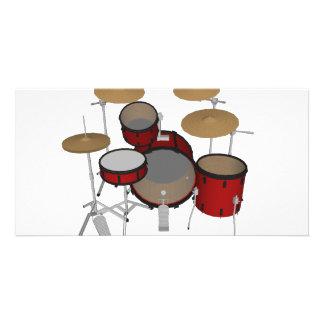 Drums: Red Drum Kit: 3D Model: Custom Photo Card