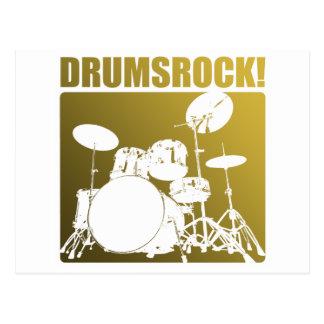 Drums Rocks! Postcard