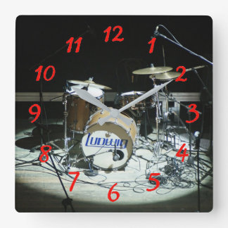 Drums Square Wall Clock