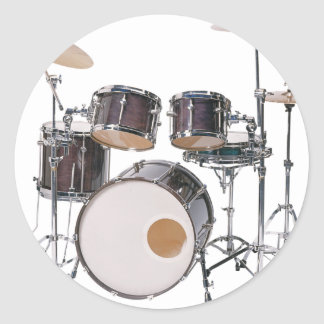 Drums Tools Percussion Music Concert Classic Round Sticker