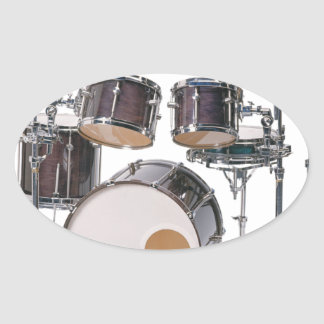 Drums Tools Percussion Music Concert Oval Sticker