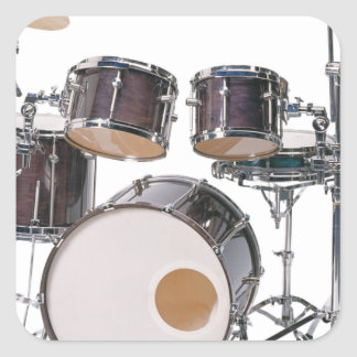 Drums Tools Percussion Music Concert Square Sticker