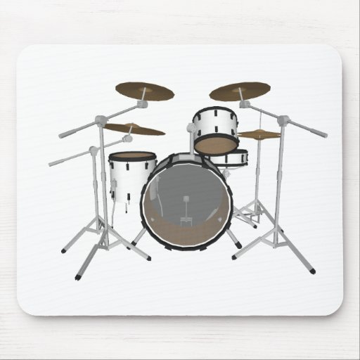 Drums: White Drum Kit: 3D Model: Mouse Pad