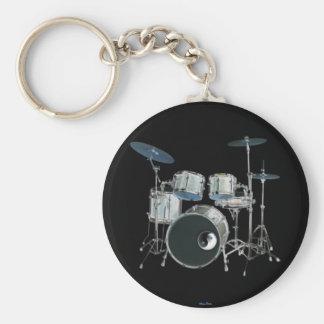 Drums & Yin-Yang Keychain