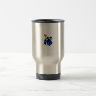 Drumset Graphic Blue version trap set image Travel Mug