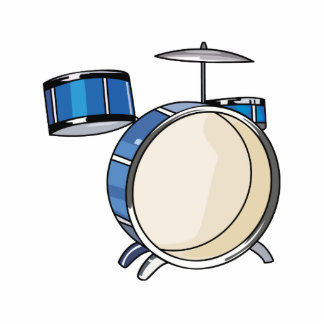 drumset simple three piece blue.png photo cut out