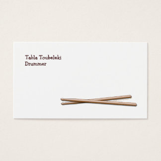 Drumsticks Drummer Business Card Template