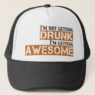 drunk awesome trucker hat