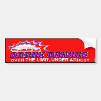 drunk bumper- over the limit under arrest bumper sticker