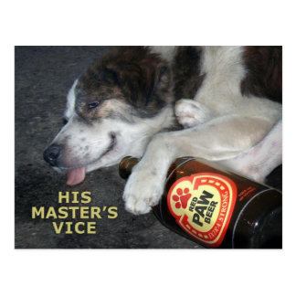 Drunk Dog Postcard