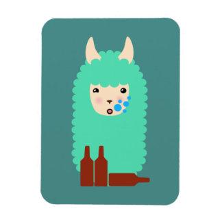 Drunk Emoji Llama Magnet