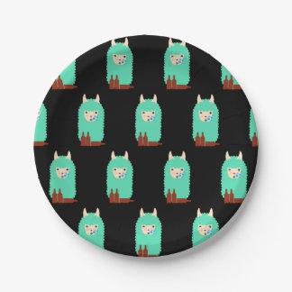 Drunk Emoji Llama Paper Plate