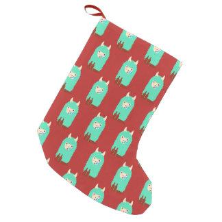 Drunk Emoji Llama Small Christmas Stocking