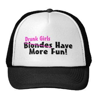 Drunk Girls Have More Fun Pink Trucker Hat