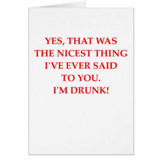 DRUNk Greeting Card