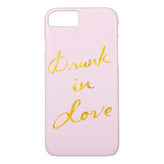 Drunk in Love iPhone 7 Case - pink & gold