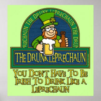 Drunk Leprechaun Poster
