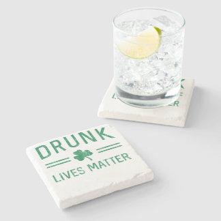 Drunk Lives Matter Stone Coaster