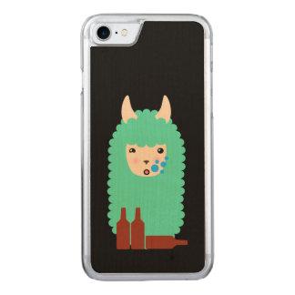 Drunk Llama Emoji Carved iPhone 8/7 Case