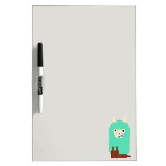 Drunk Llama Emoji Dry-Erase Whiteboard