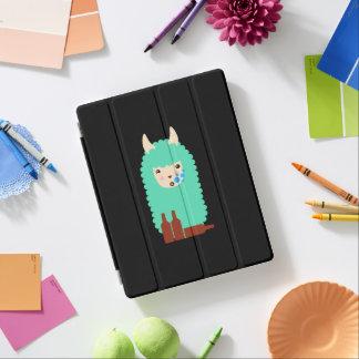 Drunk Llama Emoji iPad Cover
