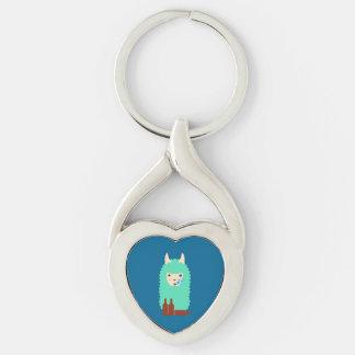 Drunk Llama Emoji Keychain