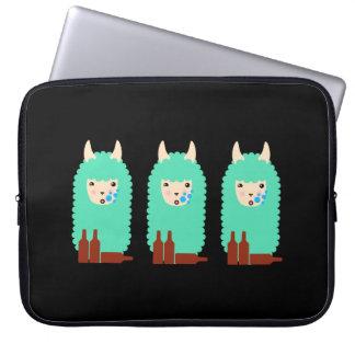 Drunk Llama Emoji Laptop Sleeve