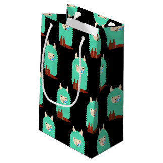 Drunk Llama Emoji Small Gift Bag