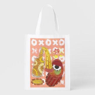 Drunk Mango Reusable Bag Reusable Grocery Bags