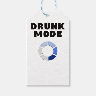 drunk mode loading, funny drinking design gift gift tags