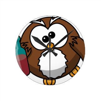 Drunk Owl Wallclock