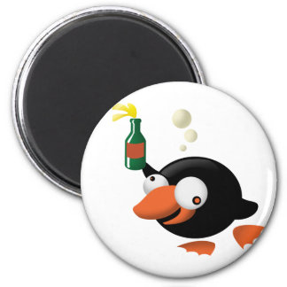 Drunk penguin magnet