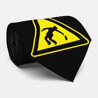 Drunken danger marker tie