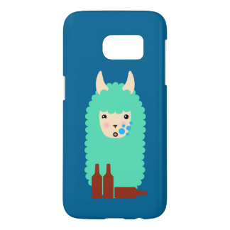 Drunken Emoji Llama (beer) Samsung Galaxy S7 Case