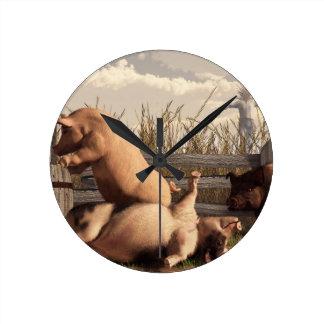Drunken Pigs Clocks