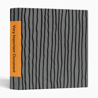 "Drunken stripe - vertical, gray, 1.4"" - binder"