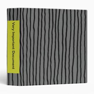 "Drunken stripe - vertical, gray, 2.2"" binder"