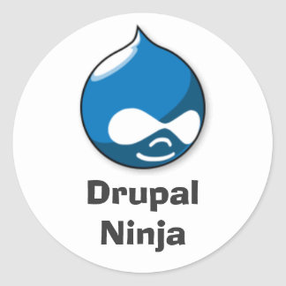 Drupal Ninja Classic Round Sticker