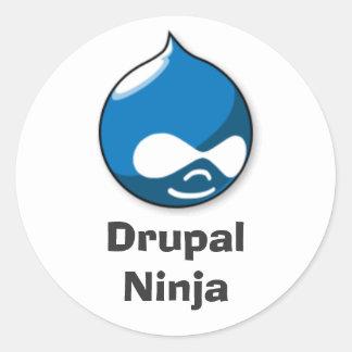 Drupal Ninja Round Sticker