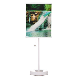 Drury Spillway Falls Desk Lamp