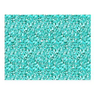 Druzy crystal - aquamarine blue postcard