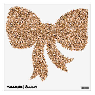 Druzy crystal - rose gold color wall sticker
