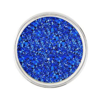 Druzy crystal - Sapphire blue Lapel Pin