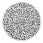 Druzy crystal - silver colour ceramic knob