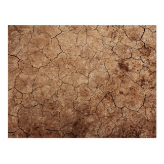 Dry and Cracked Dirt Faux Textured Postcard